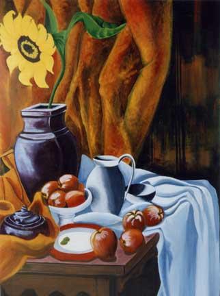 le Tournesol - acrylique sur toile - 116 X 089   -  1998