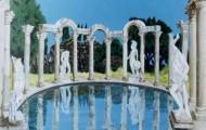 Villa Hadriana - acrylique sur toile 097 x 130 - 1998
