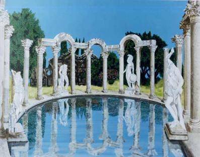 Villa Hadriana - acrylique sur toile 089 x 116   -  1998