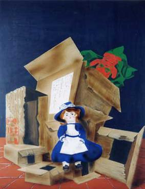 Cadeau - acrylique sur isorel 100 x 73  - 1997
