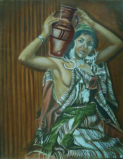 Ceinture de laine - huile sur toile 100 x 81 - 2001