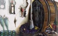 Chai de Bacchus - huile sur toile 130 x 097