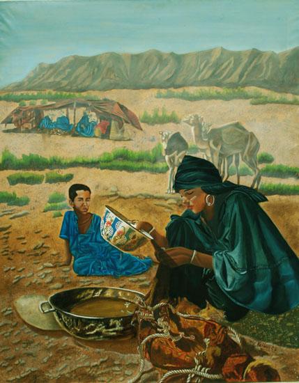 Servitude - huile sur toile 146 x 114 - 2002