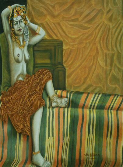 La Coiffe huile sur toile 100 x 073 - 2002