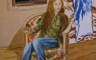 la lettre - huile sur toile 130 x 097