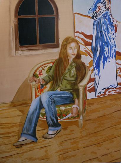 la lettre - huile sur toile 130 x 097 - 2007