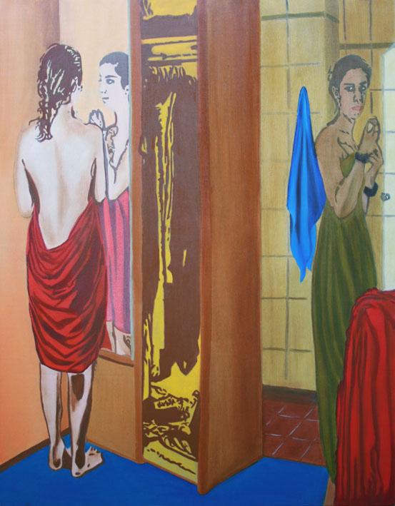 Le Reflet - huile sur toile 146 x 114 - 2008