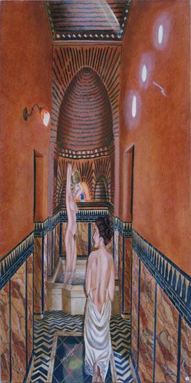 la Salle d'Eau - huile sur toile 160 x 080  - 2003