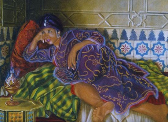 l'Encens - huile sur toile 073 x 100 - collection particulière