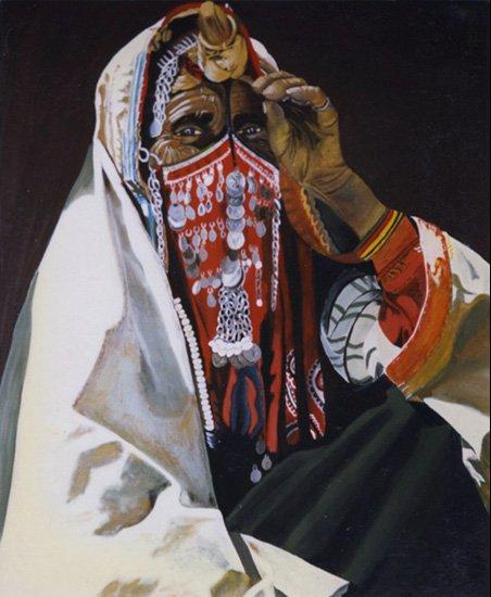 La Bédouine - acrylique sur toile  1997