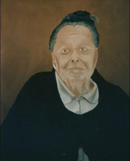Maman - huile sur toile  061 x 050 - 2000 collection particulière