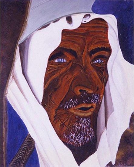 Le Sémite - acrylique sur toile - 1997