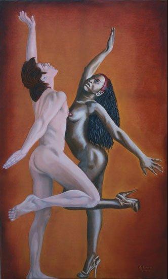Fusion - huile sur toile  162 x 097   -  2001