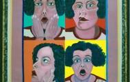 Autoportait - acrylique sur toile 130 x 07 - 1997