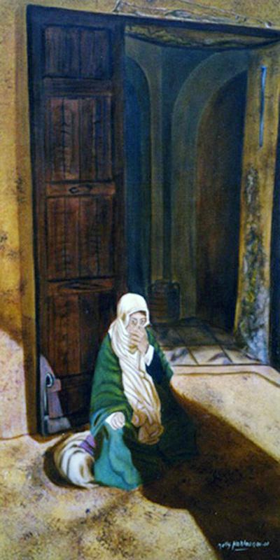 La Main - huile sur toile  160 x 080  -  2005
