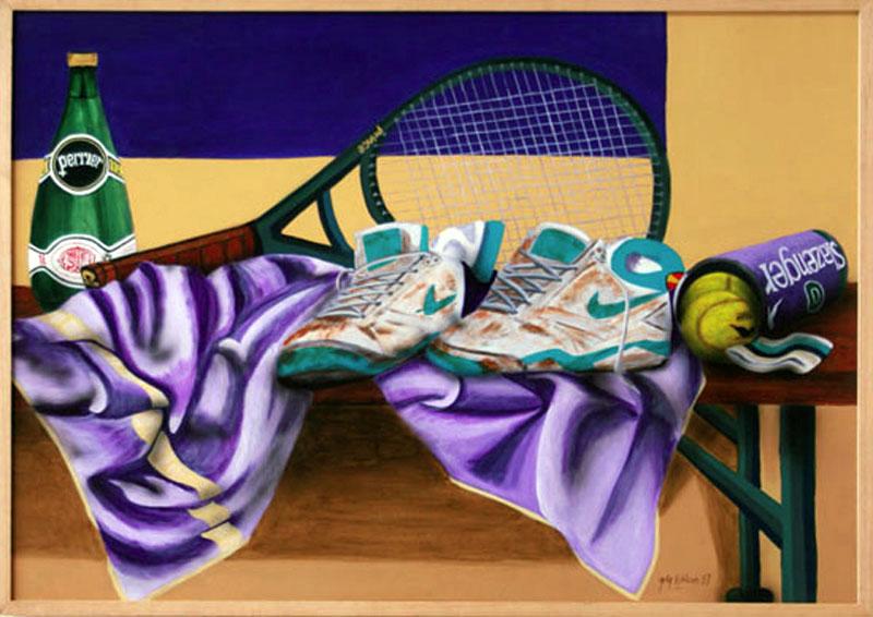 Le Banc - acrylique sur toile  062 x 092 - 1997