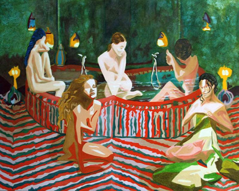 Le Bain - huile sur toile 130 x 162
