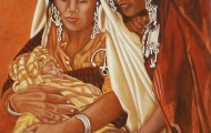 Les Nurces - huile sur toile 146 x 114 - 2002