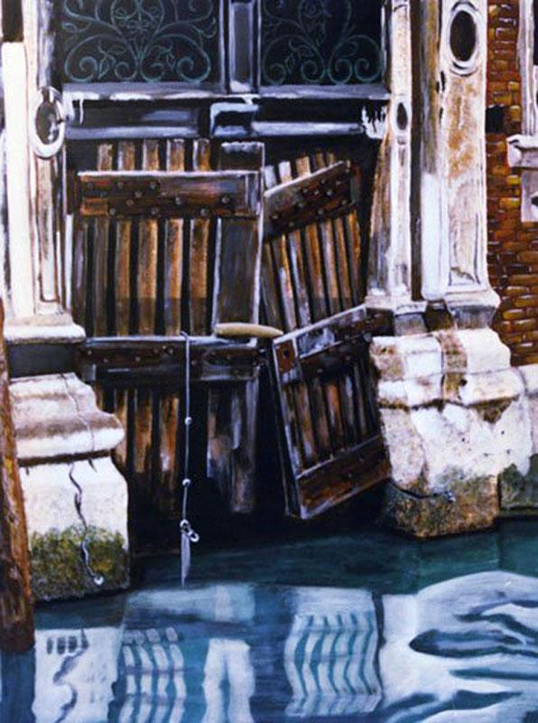 Porte de Venise - acrylique sur toile  146 x 114 - 1999 collection particulière