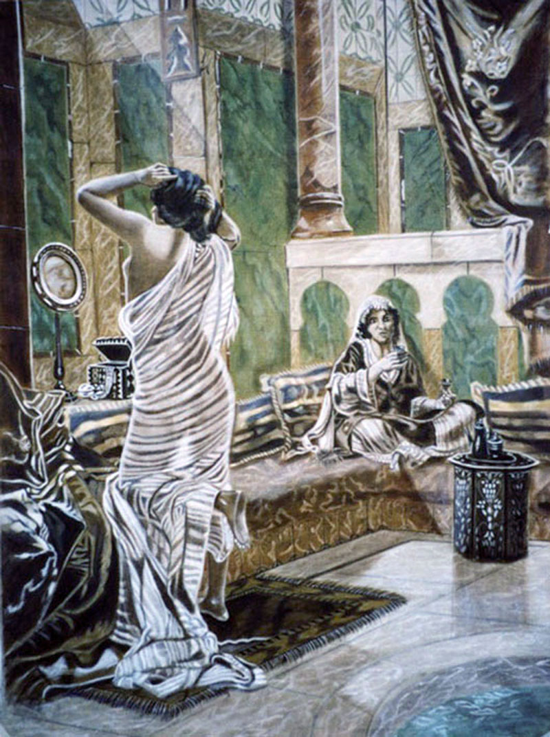 Préparatif de la Favorite - huile sur toile 130 x 097 - 1999 collection particulière