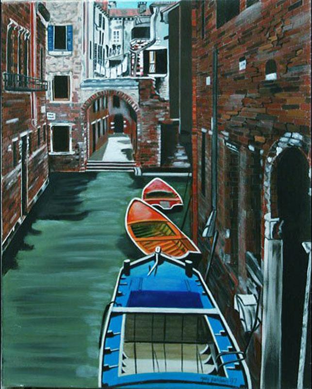 Venise - huile sur toile  081x065   -  1997