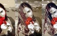 coquelicots quintyptique - huile sur toile - 5x 130 x 097 2011
