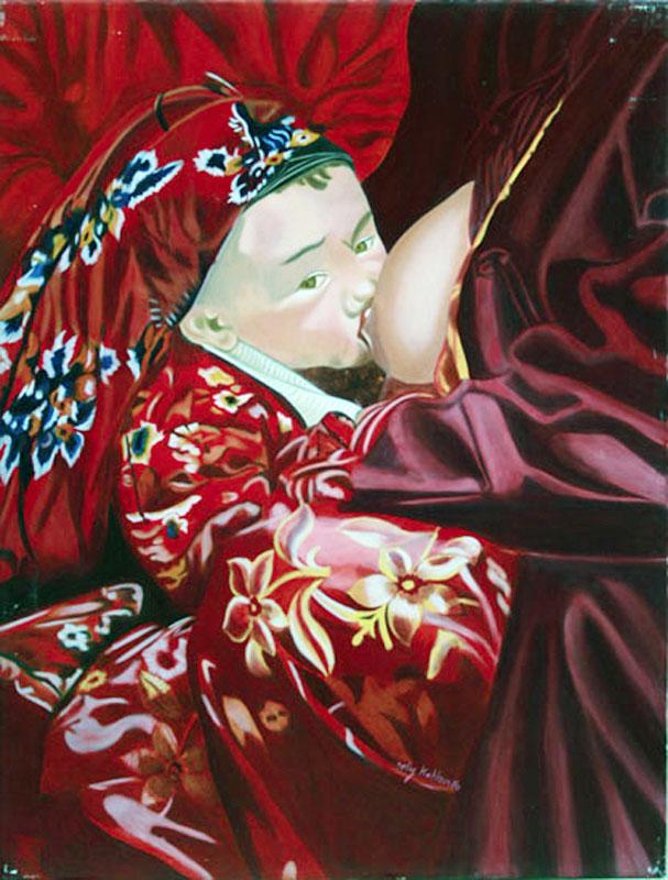 Gouttes de Lait - huile sur toile   130 x 097    2004