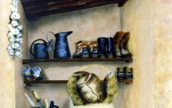 La Resserre - acrylique sur isorel 116 x 089 - 1997