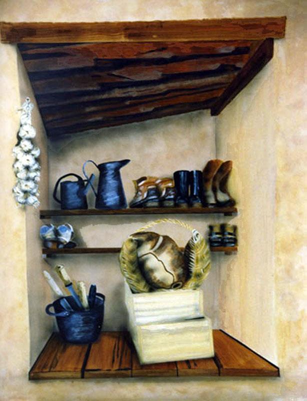 La Resserre - acrylique sur isorel 116 x 089   -  1997  collection particulière