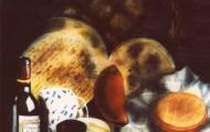 Dégustation – huile sur toile - 073x060- 1998
