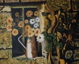 L'Arbre mort - huile sur toile - 065x081 - 1998