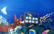 Le Rêve - acrylique sur toile 089 x 114 - 1997 collection particulière