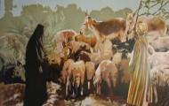 La Tunique rayée - huile sur toile 97 x 130 - 2004