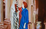 Les amants de Sion - huile sur toile 46 x 114 - 2006