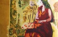 Entrevue - huile sur toile 130 x 97 - 2004