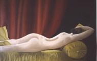 Jeune Fille sur le Canapé Jaune - huile sur toile - 1999