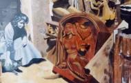 Hommage à Camille Claudel - acrylique sur toile 114 x 146
