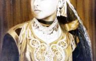 """La Kahena """"La Belle Raquel"""" huile sur toile 100 x 081 - 1999"""