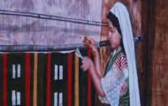 Le Métier à Tisser - huile sur toile 160 x 080