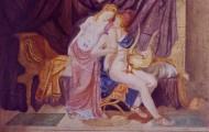 Les Amoureux - fresque sur toile technique mixte 097 x 130 - 1999