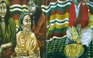Cérémonie du Thé à la Menthe dyptique - huile sur toile 2x 160 x 080