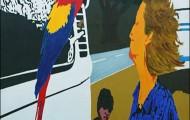 Duo - huile sur toile 162 x 130 - 2005