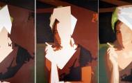 Fumeuse quintyptiqye - huile sur toile 5x 130 x 097 2011