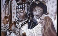 Les Deux Amies - huile sur toile 073 x 092 - 1999