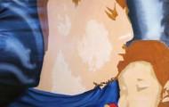 Paternité - huile sur toile 162 x 097 - 2005