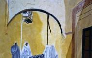 Une Rue de Tunis - huile sur toile 81 x 65 1997