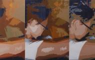 Dévotion -huile sur toile-quintyptique-073x100- 2012