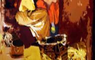 Conversation - huile sur toile 116 x 081