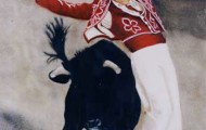 Dance avec les Cornes - huile sur toile - 100x89 - 1998