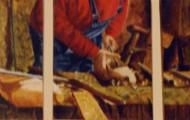 L'Atelier triptype - huile sur toile - 3x24x19 - 2000